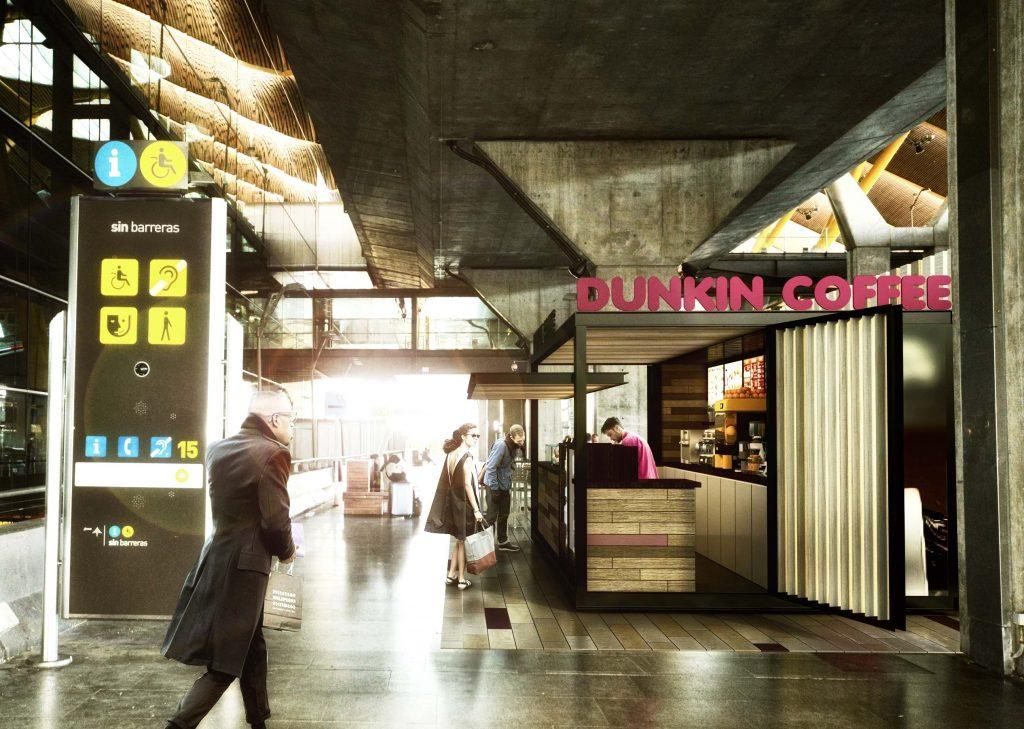 Dunkin Coffee. Aeropuerto de Madrid