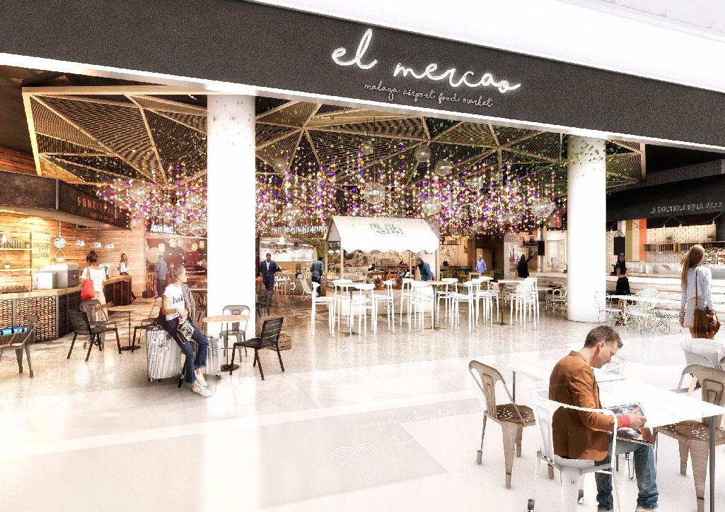 Food market. Aeropuerto Málaga