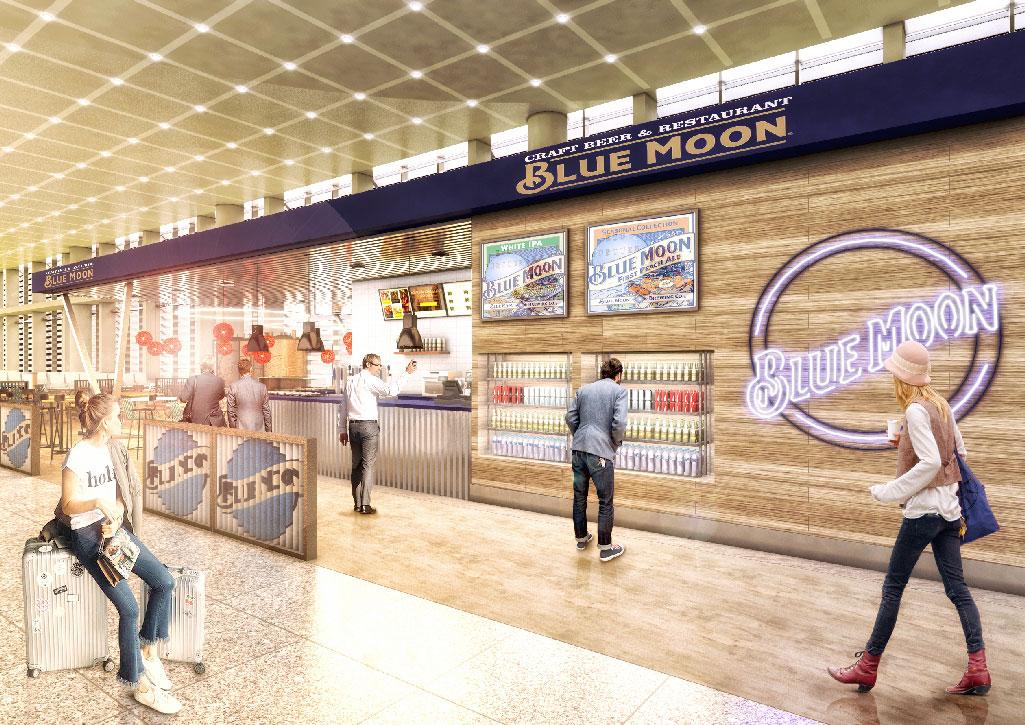 Blue Moon. aeropuerto Málaga